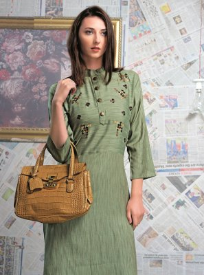 Rayon Festival Party Wear Kurti