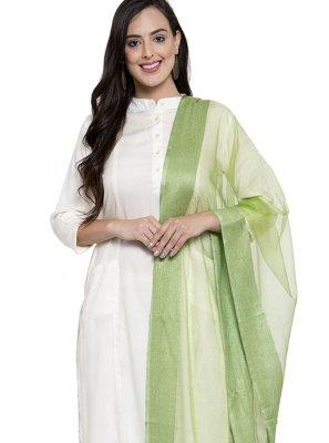 Rayon Off White Salwar Kameez