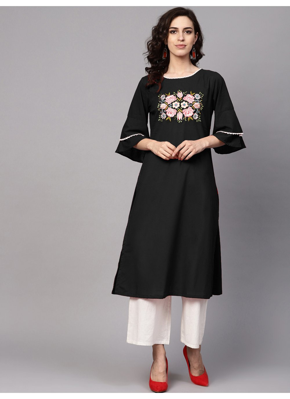 Rayon Printed Black Salwar Suit