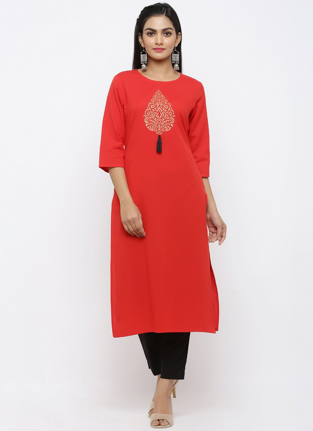 Rayon Salwar Kameez in Red
