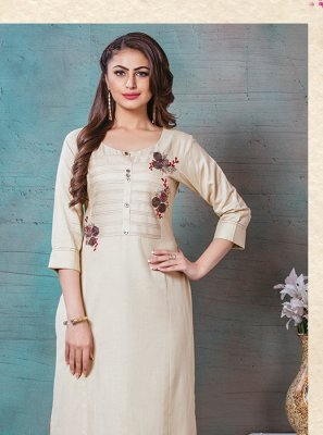 Rayon Thread Work Designer Kurti
