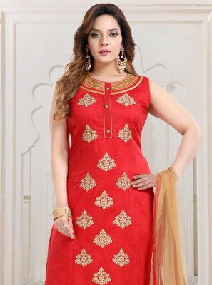 Red Bollywood Salwar Kameez