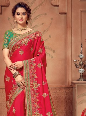 Red Border Silk Designer Traditional Saree