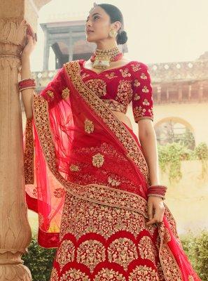 Red Bridal Designer Lehenga Choli