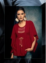 Red Casual Party Wear Kurti