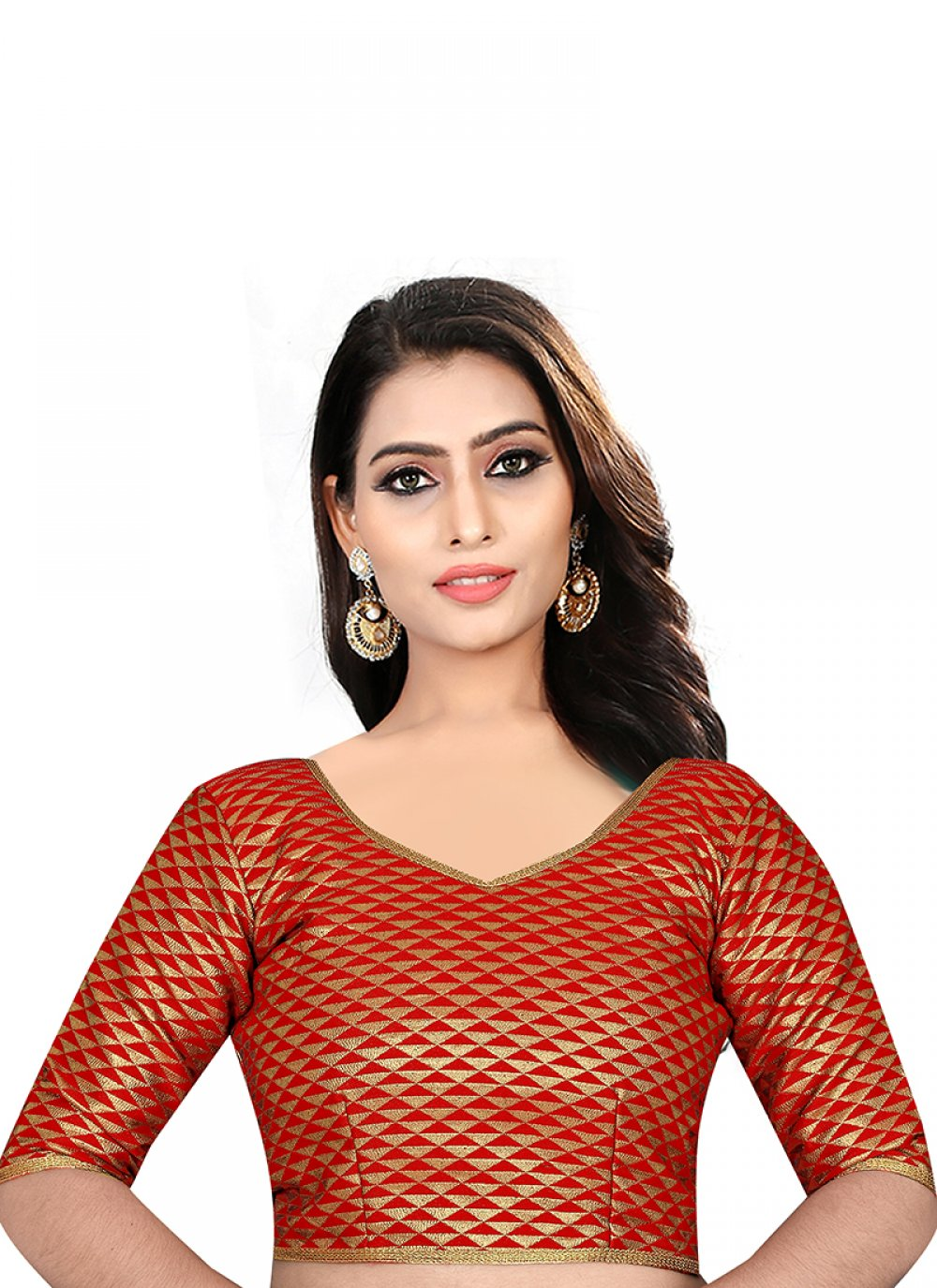 Red Color Designer Blouse