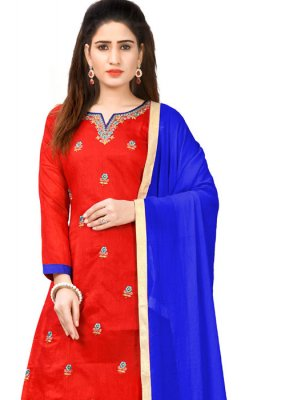 Red Color Designer Salwar Kameez