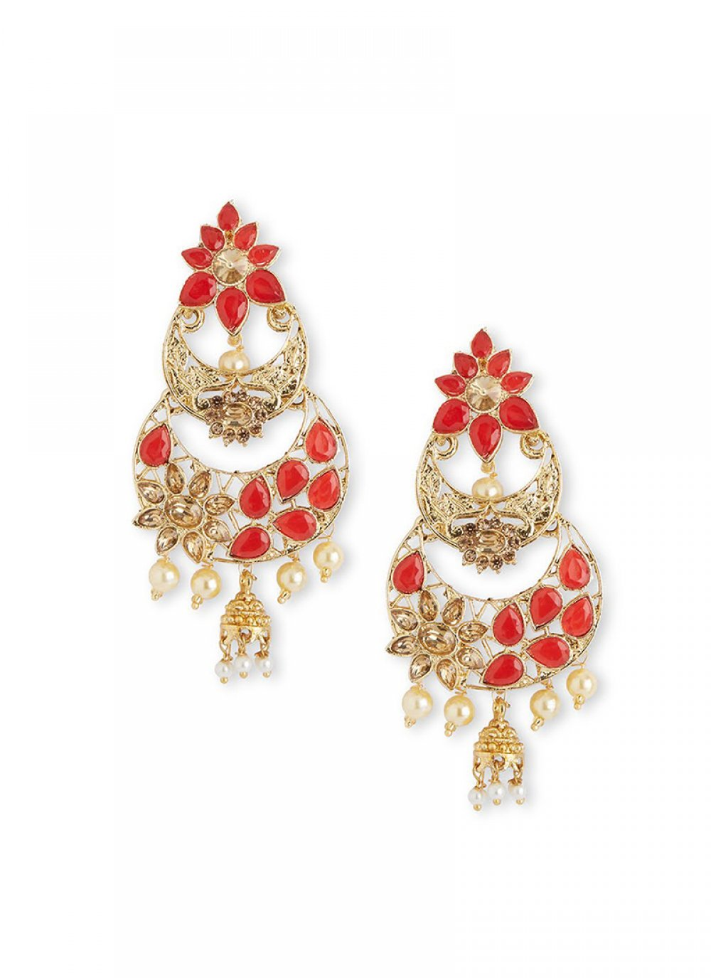 Red Color Ear Rings