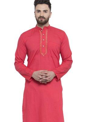 Red Color Kurta Pyjama
