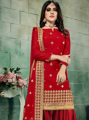Red Color Salwar Kameez