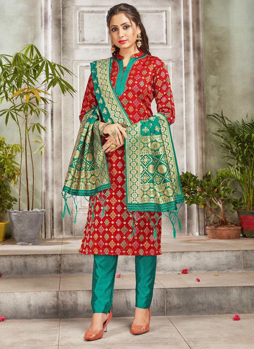 Red Color Salwar Suit