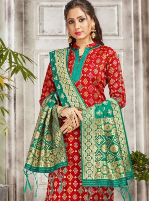 Red Color Salwar Suit