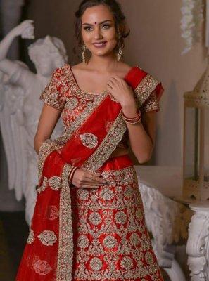 Red Designer Lehenga Choli
