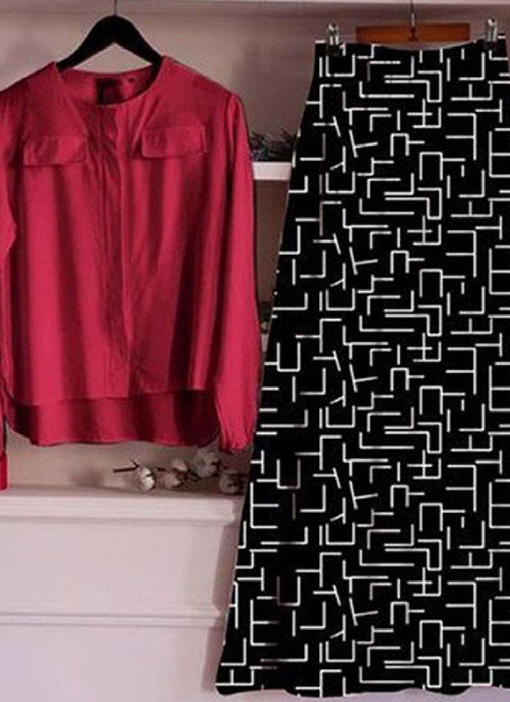 Red Digital Print Rayon Designer Lehenga Choli