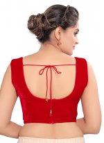 Red Fancy Velvet Blouse