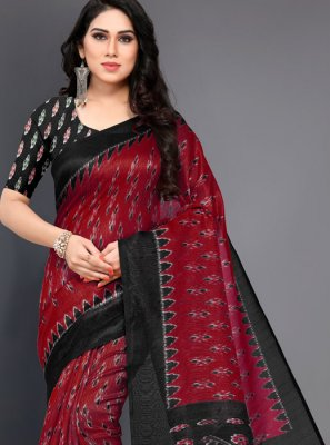 Red Festival Designer Traditional Saree
