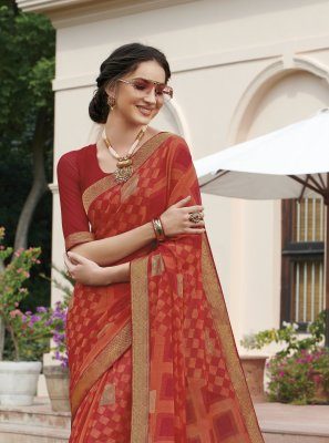 Red Festival Saree