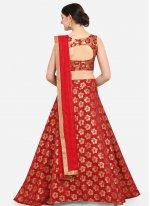 Red Jacquard Designer Lehenga Choli