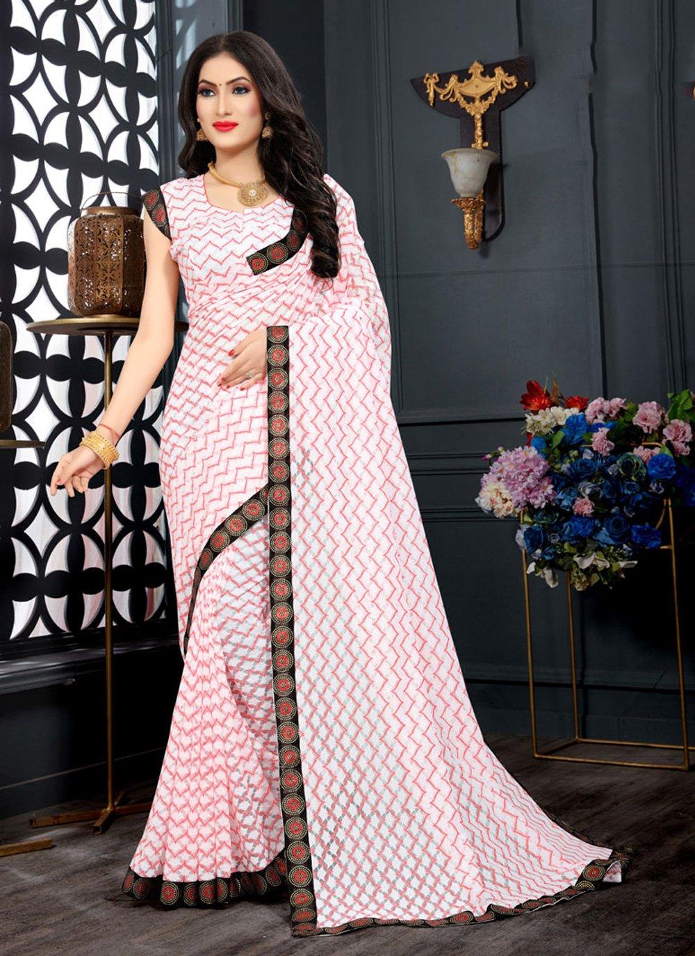 Red Jacquard Designer Saree