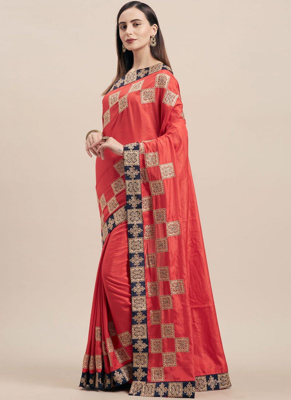Red Party Classic Designer Saree