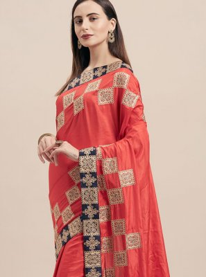 Red Party Classic Designer Saree