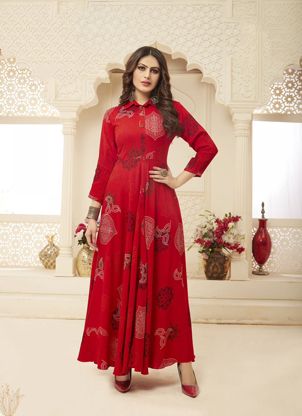 Red Party Designer Gown