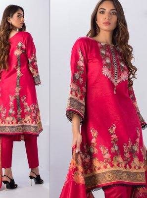Red Party Salwar Kameez