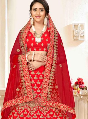 Red Party Trendy Lehenga Choli