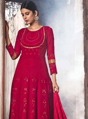Red Reception Anarkali Suit