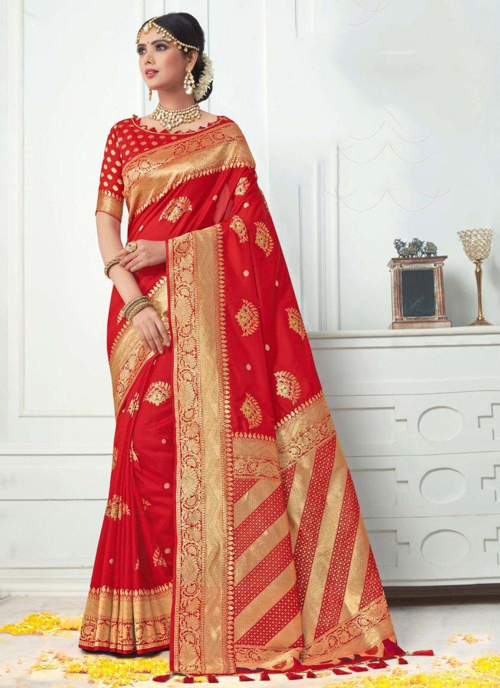 Red Silk Classic Saree