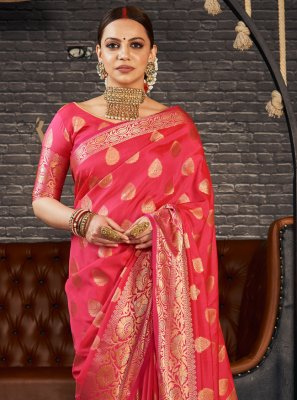 Red Silk Traditional Saree