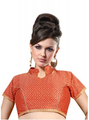 Red Weaving Mehndi Designer Blouse
