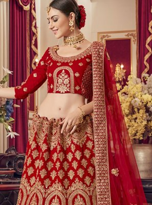 Red Wedding Designer Lehenga Choli