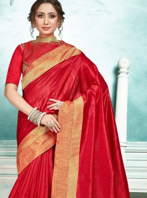 Red Wedding Designer Saree