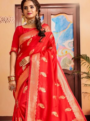 Red Wedding Traditional Saree