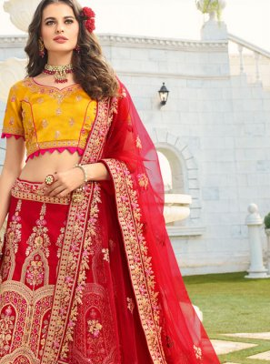 Red Wedding Trendy A Line Lehenga Choli