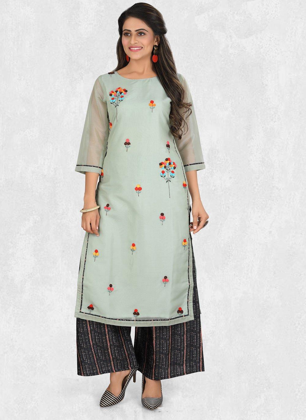Resham Blue Salwar Suit