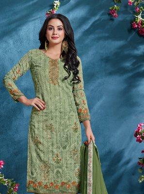 Resham Churidar Designer Suit