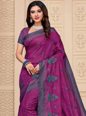 Resham Cotton Silk Classic Saree