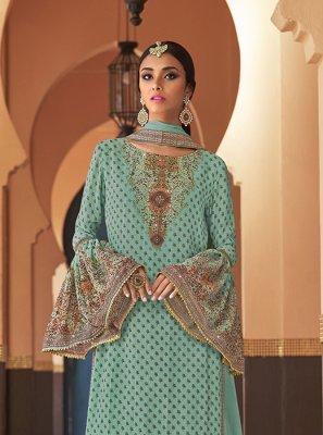 Resham Designer Palazzo Suit