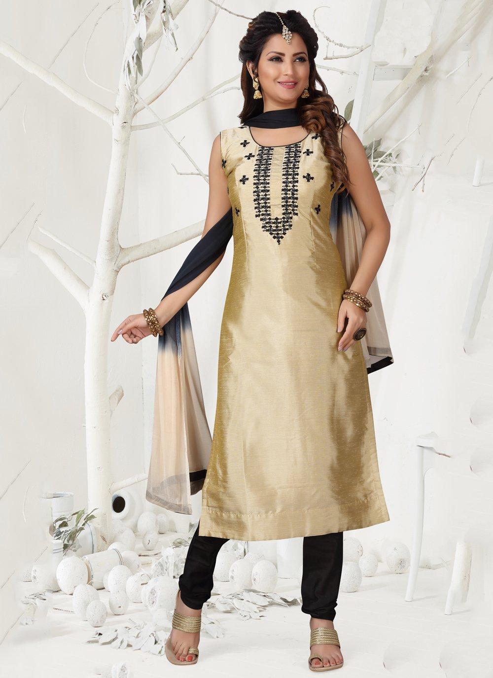 Resham Designer Straight Suit