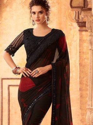 Resham Faux Georgette Classic Designer Saree