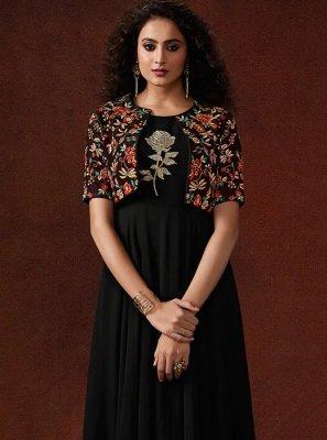Resham Faux Georgette Designer Gown