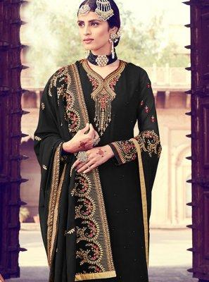 Resham Georgette Designer Pakistani Suit