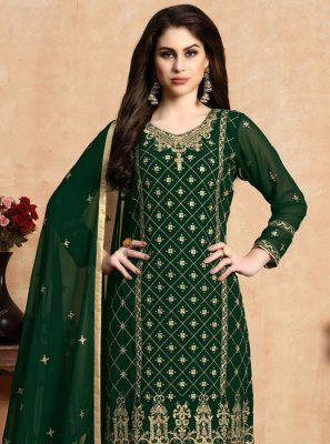 Resham Green Pant Style Suit