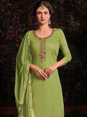Resham Green Patiala Salwar Kameez