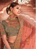 Resham Grey Trendy Lehenga Choli
