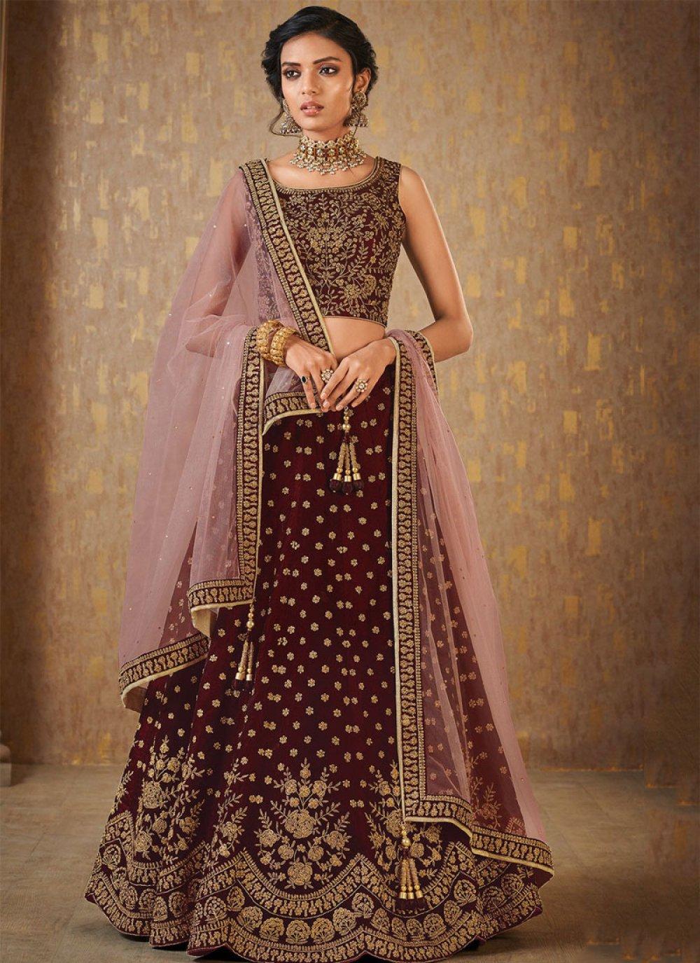 Resham Malbari Silk  Trendy Lehenga Choli