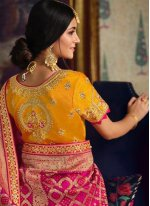 Resham Multi Colour Silk Designer Lehenga Choli