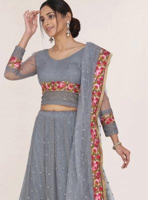 Resham Net Designer Lehenga Choli